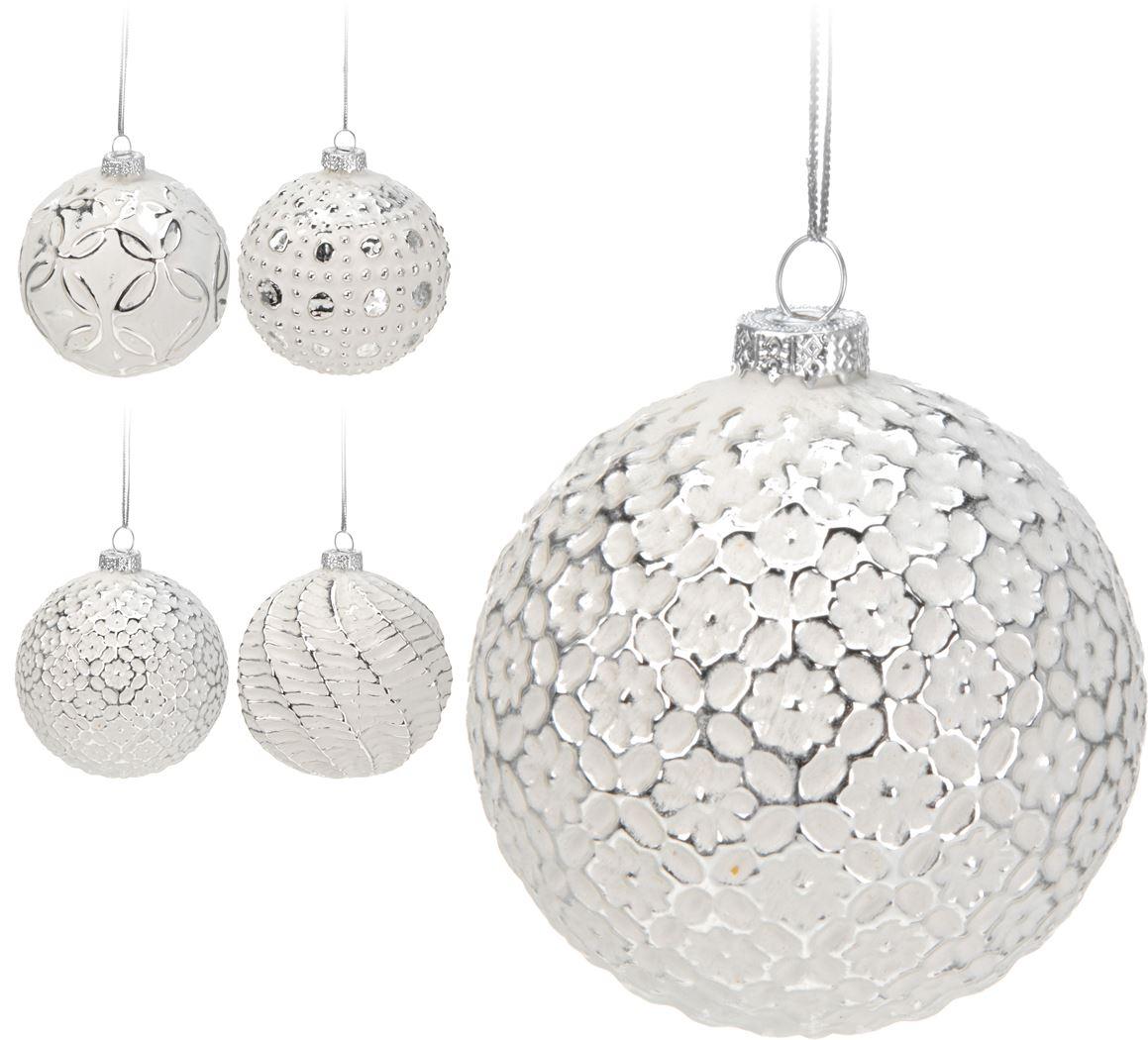 kerstbal-glas-wit-zilver