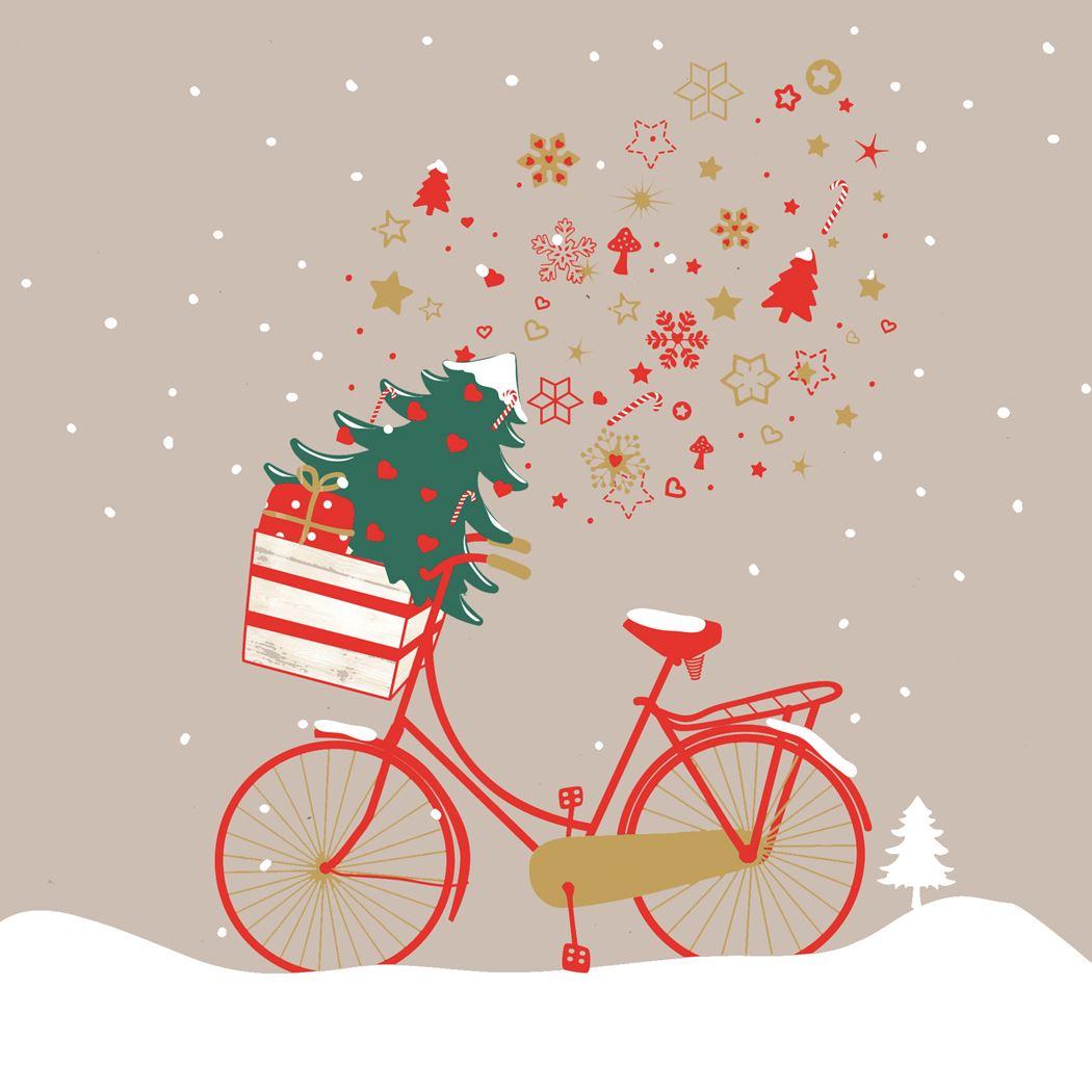 ppd-servetten-xmas-bike-taupe-fsc