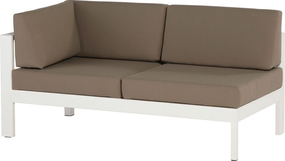 4so cosmo modular 2 seater right arm white with 5 cushions