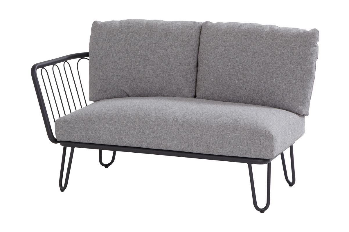 4so premium 2 seater bench right arm with 3 cushions