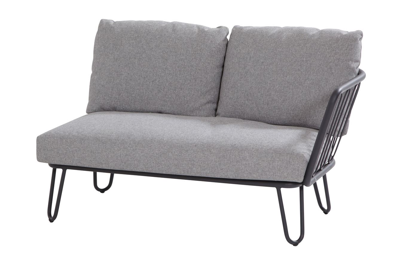 4so premium 2 seater bench left arm with 3 cushions