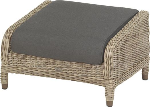 4so brighton footstool with cushion pure