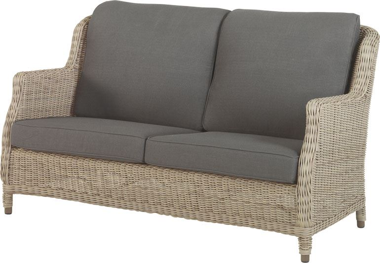 4so brighton 2.5 seaters bench with 4 cushions pure