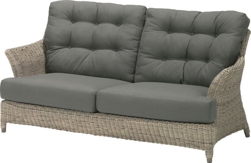 4so valentine 2,5 seaters bench with 4 cushions pure