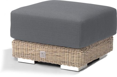 4so kingston footstool with cushion pure
