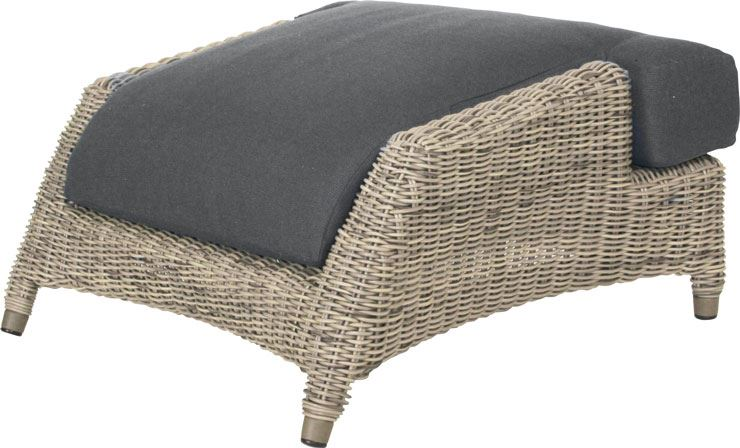 4so valentine footstool with cushion  pure