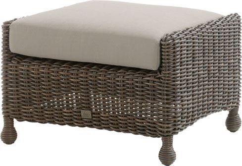 4so madoera footstool with cushion colonial
