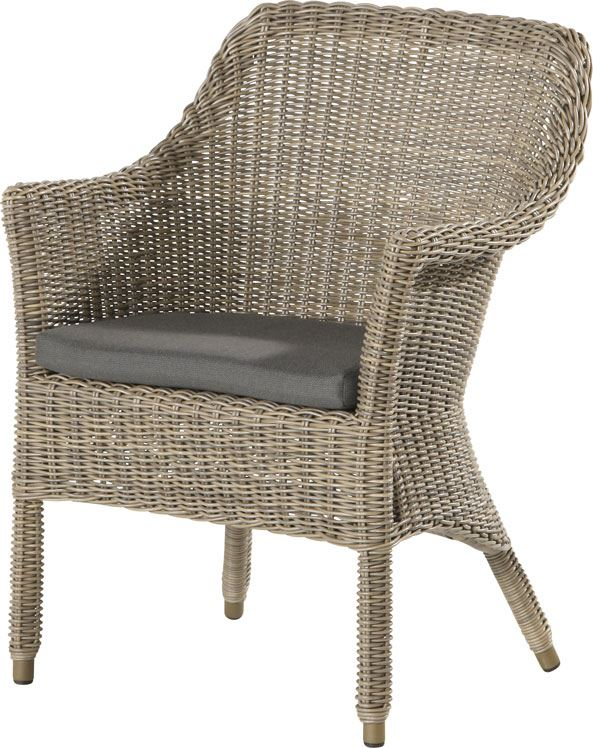 4so galleria dining chair with cushion pure
