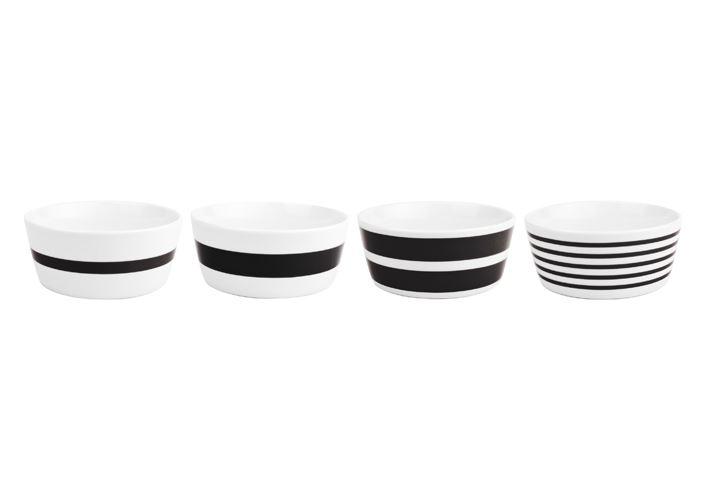 bowl stripes zwart (4sts)