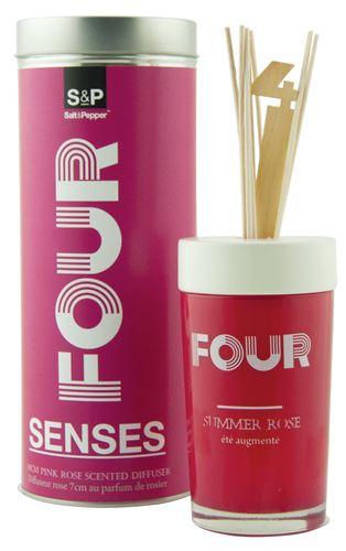 s&p senses geurstokjes in glas nr.4 pink summer