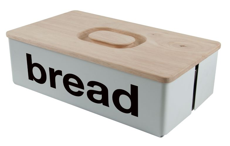 s&p broodtrommel met houten deksel loft