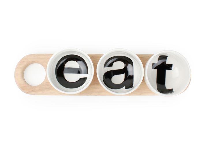 s&p kom op houten plank snack loft (3-dlg)