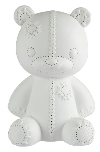 s&p schemerlamp wit porselein teddy