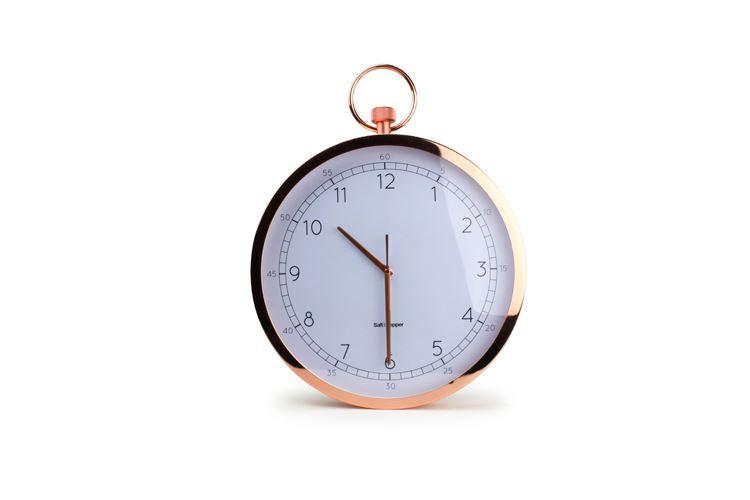s&p zone stopwatch style wandklok rond rosé goud