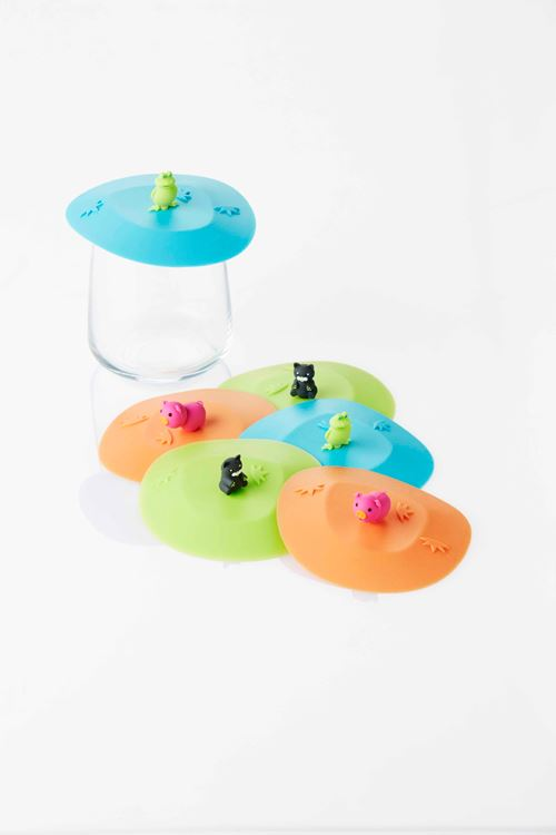 dotz silicone deksel animals (3ass.)