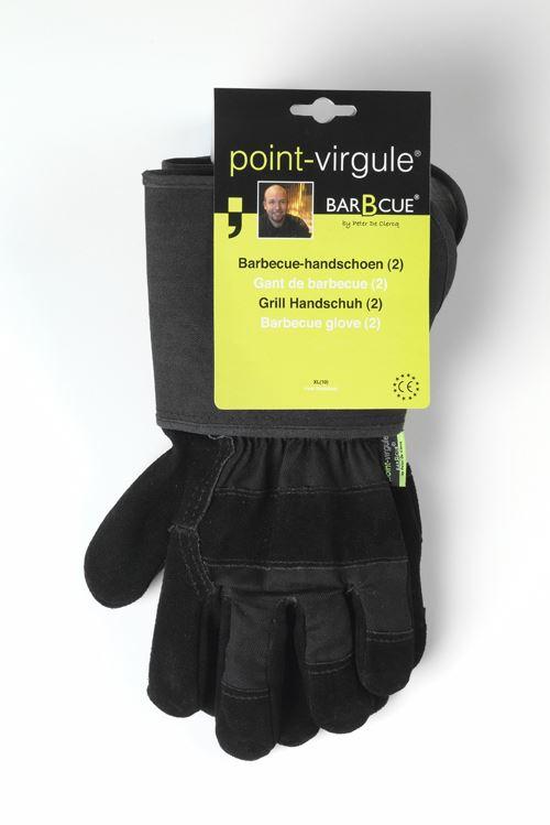point-virgule set van 2 barbecue handschoenen zwart