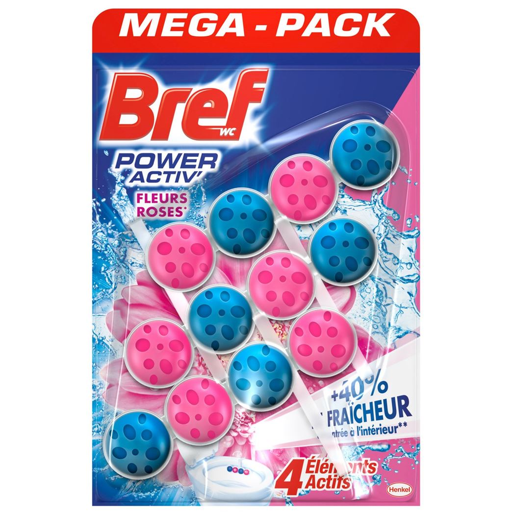 bref wc power active pink flowers (3sts)