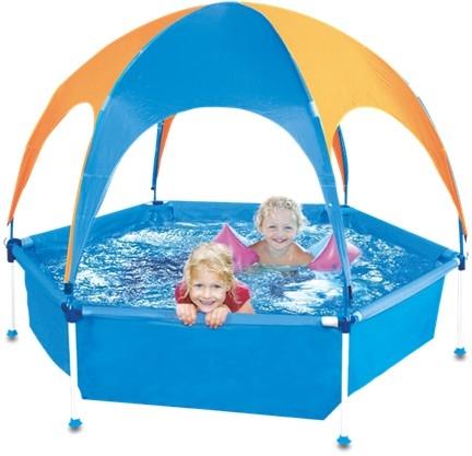 opzet kinderzwembad kunststof blauw
