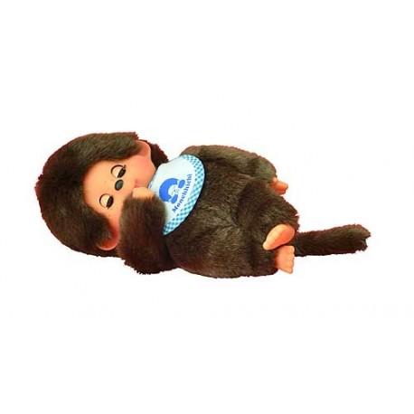 monchhichi jongen slaapogen met slab blauw
