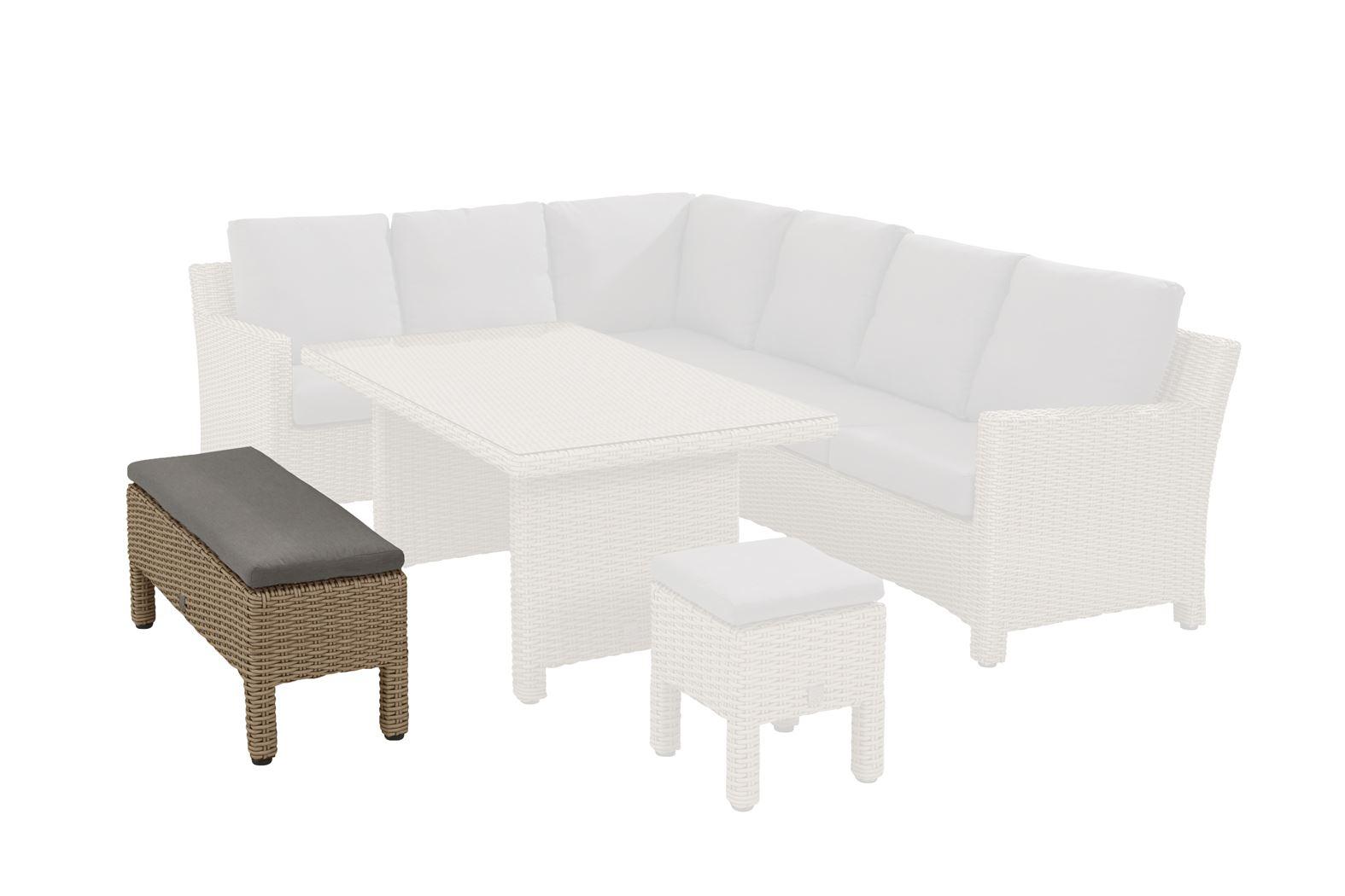 4so adora cosy dining bench (big stool) with cushion caramel