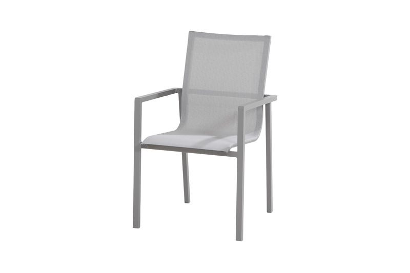 4so bari dining chair tex stackable slate grey