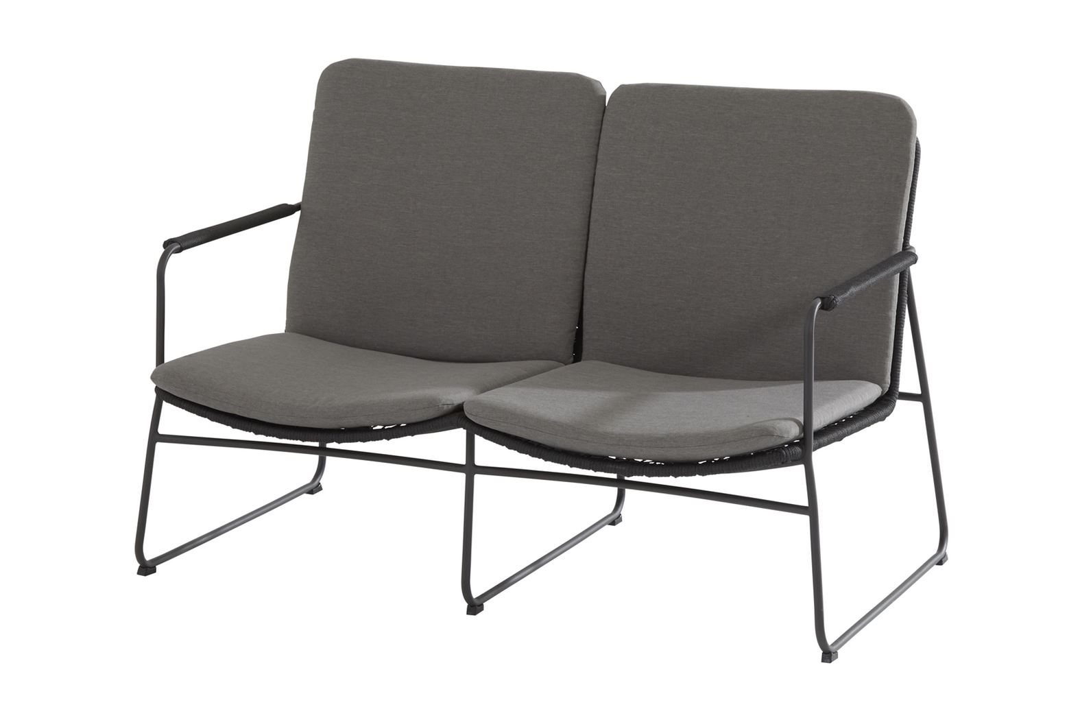 4so elba living bench 2 seater with seat and back cushions anthracite