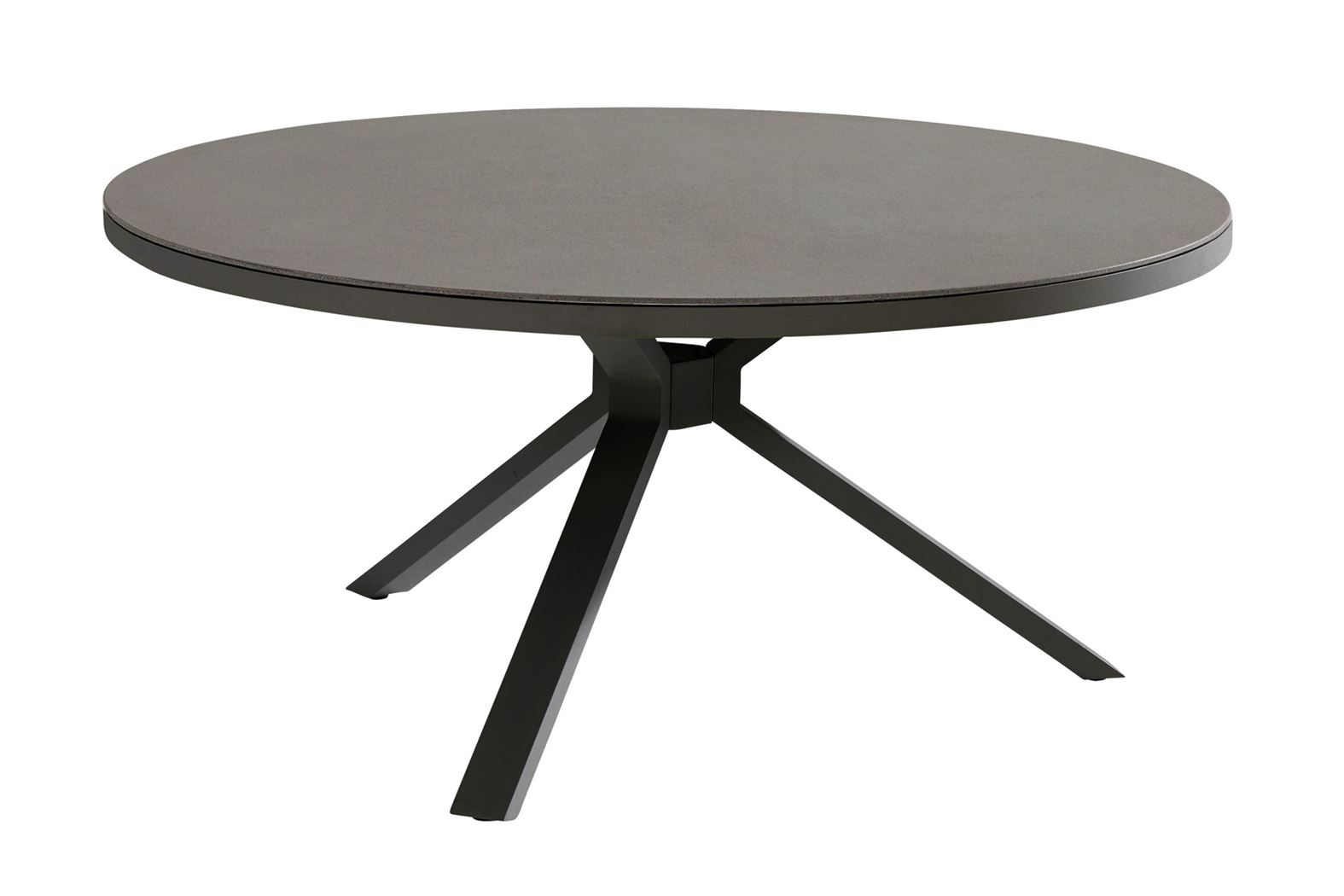 4so granada dining table spraystone 8mm matt carbon