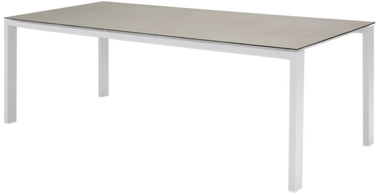 4so lafite floating table spraystone 8 mm white/light grey