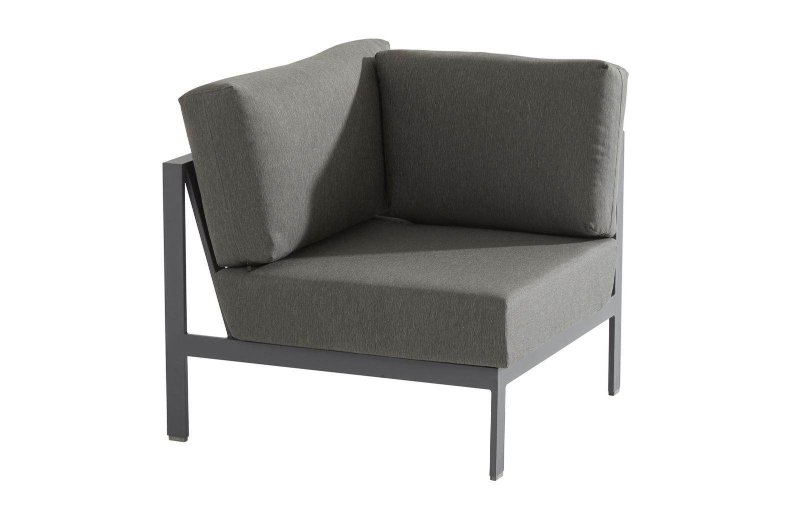 4so montigo modular corner with 3 cushions teak arms matt carbon