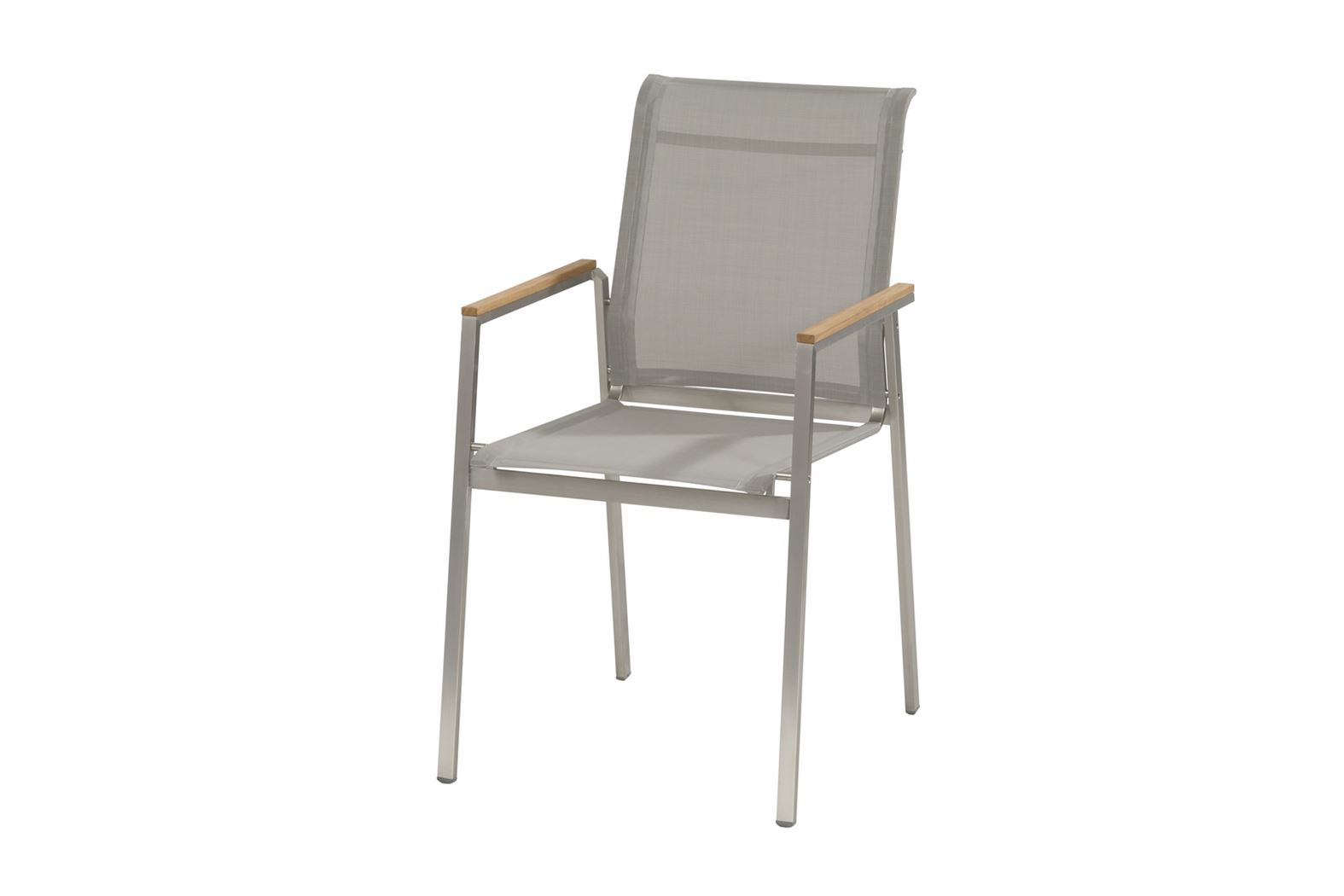 4so passion stacking chair stainless steel grey light grey