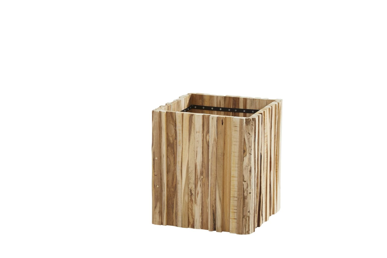 4so planter miguel square small teak