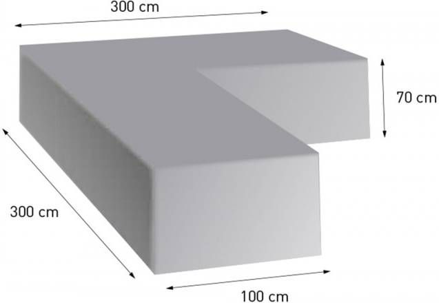 4so polyester cover corner 300 x 300 x 70 (d 100)