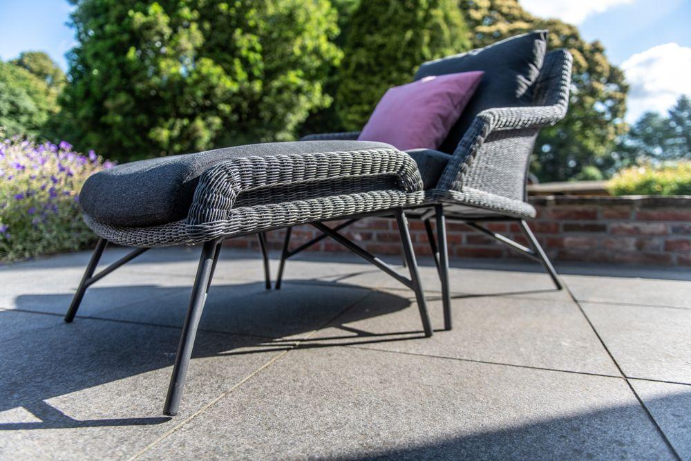 4so samoa footstool ecoloom charcoal with cushion