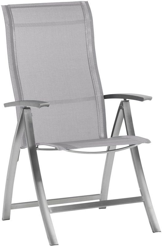 4so slimm adjustable chair stainless steel ashgrey