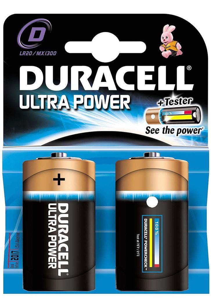 batterij duracell ultra power d lr20 (2sts)