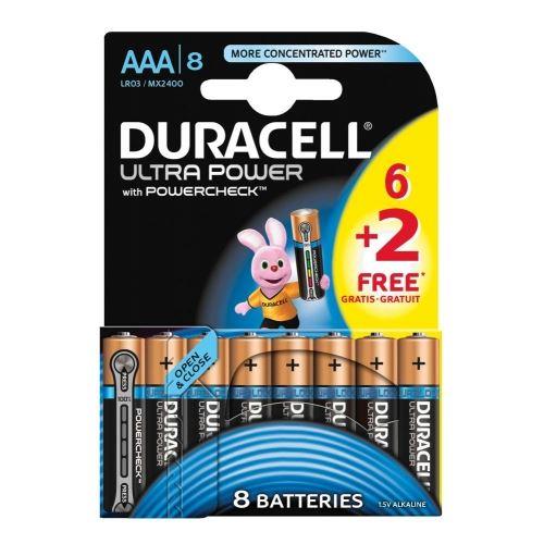 batterij duracell ultra power aaa lr03 (6+2sts)