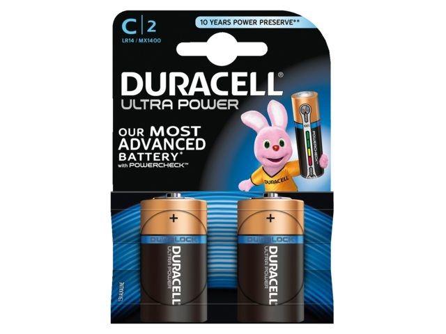 batterij duracell ultra power c lr14 (2sts)