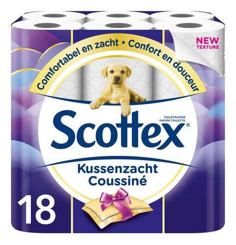 scottex wc papier kussenzacht wit 3-laags (18 rol)