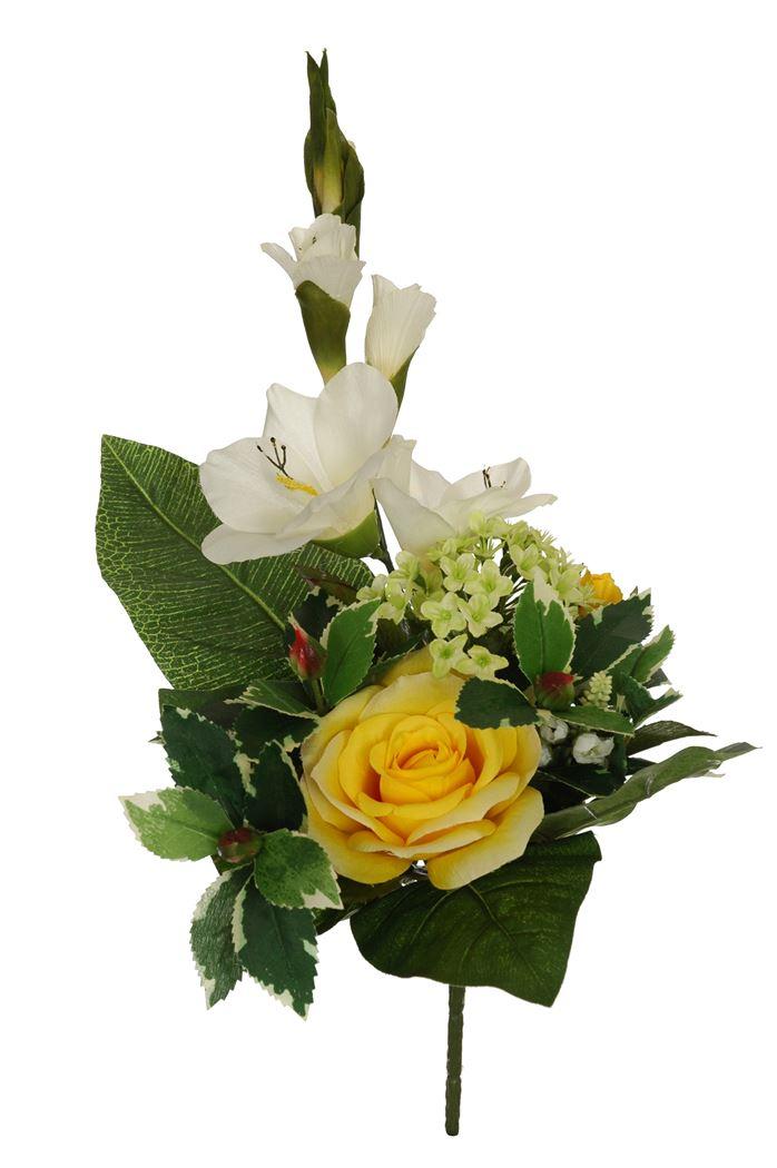 rose/gladiolus bush x 6 yellow