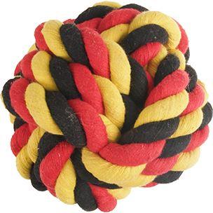 hs katoen soccer knoopbal zwart/geel/rood