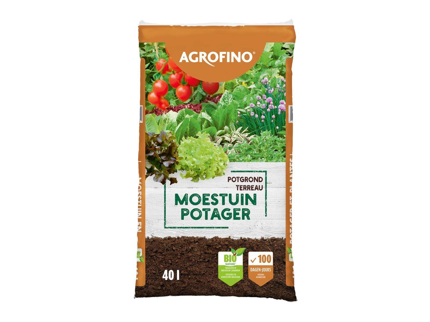 agrofino potgrond voor moestuin bionature