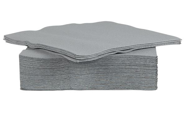 c&t prof servet papier textiel-touch grijs (40sts)