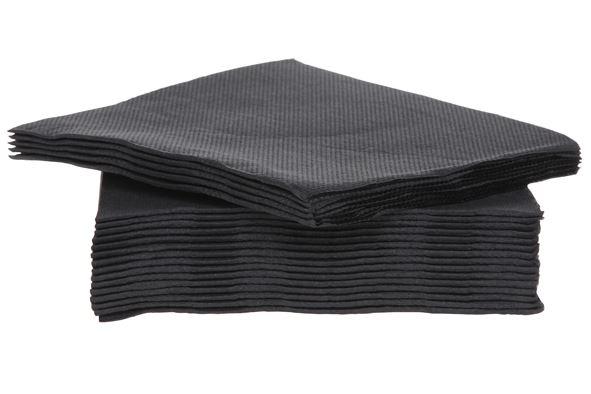 c&t prof servet papier textiel-touch zwart (40sts)