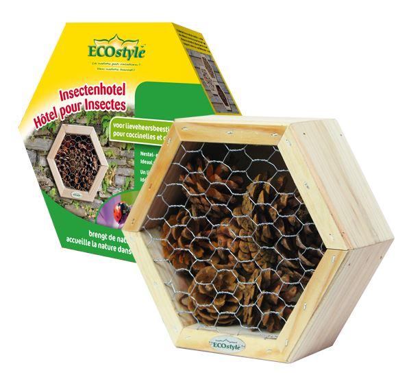 ecostyle insectenhotel lieveheersbeestjes & gaasvl