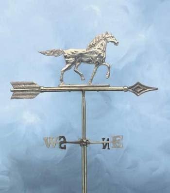 windwijzer met paard messing