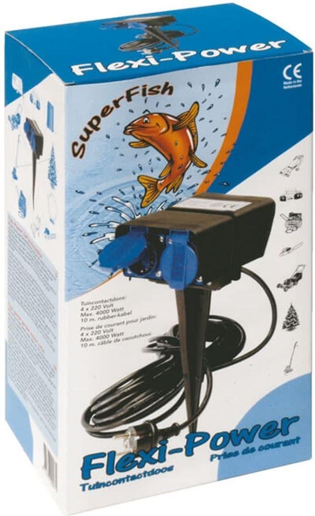 superfish flexi power stekkerdoos (8m kabel)
