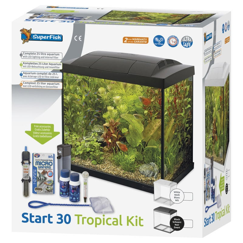 superfish aquarium start 30 led tropical kit zwart