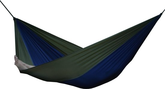 vivere parachute hammock - single (navy/olive)