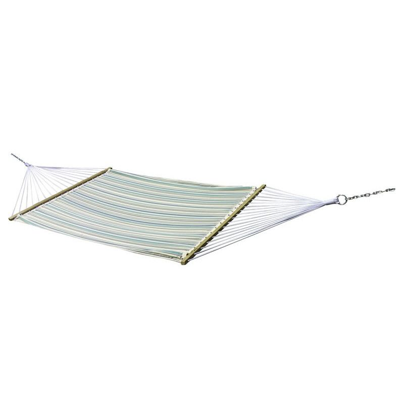 vivere quilted fabric hammock - double (lagune)