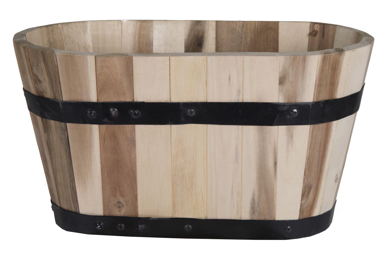 acacia barrel oval